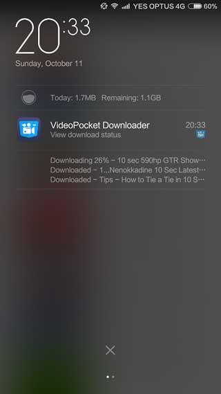 تطبيق VideoPocket Downloader لتحميل مقاطع الفيديو