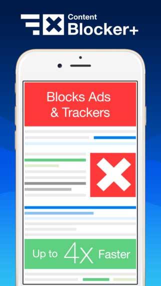 تطبيق Content Blocker+ لمنع ظهور الاعلانات