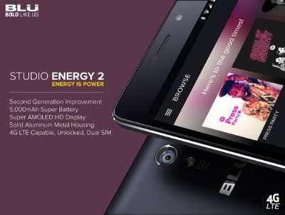 الإعلان عن هاتف BLU Studio Energy 2 ببطارية بسعة 5000 ملي أمبير !