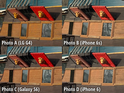 مقارنة الكاميرا : آيفون 6 إس ، جالكسي إس 6 ، LG G4 ، آيفون 6
