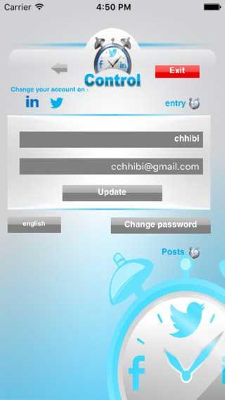 تطبيق Control in لإدارة منشوراتك في الشبكات الاجتماعية