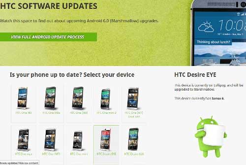 تأكيد: جهاز HTC Desire Eye سيحصل على تحديث الأندرويد 6.0