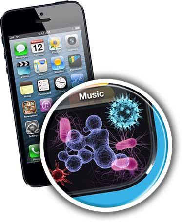 الهواتف الذكية مصدر الأمراض والفيروسات والميكروبات