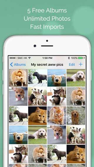 تطبيق Photo Tank لحماية صورك برقم سري عن المتطفلين