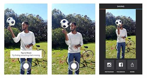 تطبيق Boomerang لإنشاء فيديو من مجموعة صور متحركة