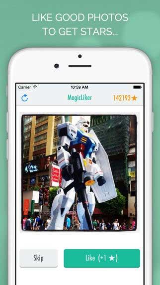 تطبيق Magic Liker للحصول على إعجابات انستغرام