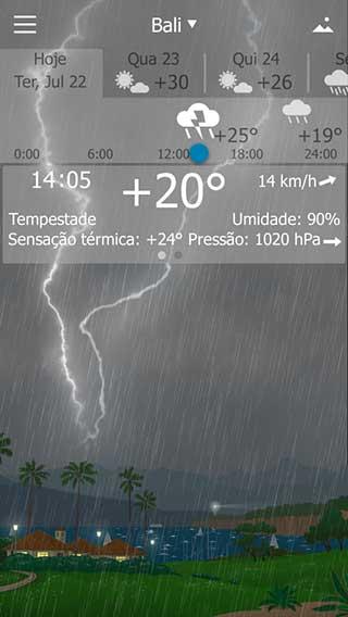 تطبيق YoWindow Free Weather لمعرفة حالة الطقس للاندرويد