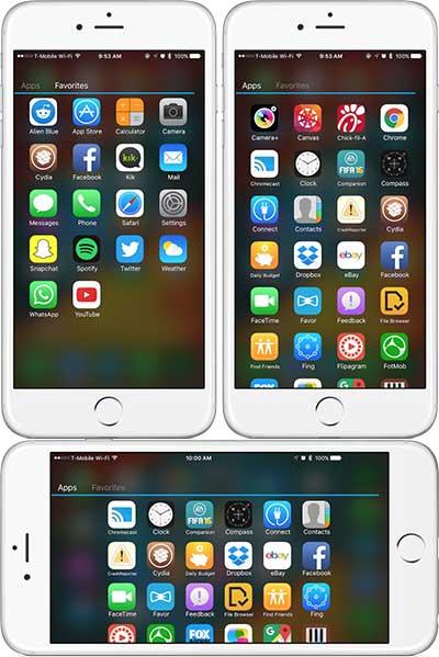 أداة AppDrawer طريقة عرض الشاشة مثل الأندرويد