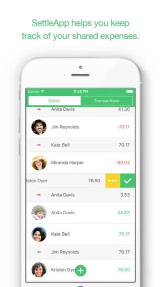 تطبيق SettleApp لتسجيل مصاريف أفراد المجموعة
