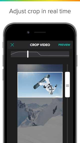 تطبيق Crop on the Fly لقص الفيديو بأي مقاس تريد