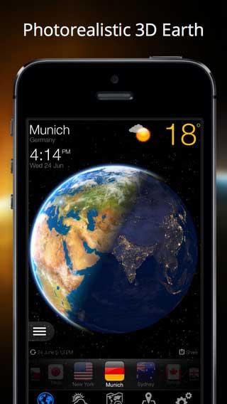 تطبيق Weather Now لعرض حالة الطقس بطريقة ثلاثية الأبعاد