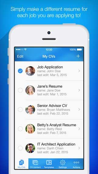 تطبيق Resume Maker لإنشاء سيرتك الذاتية