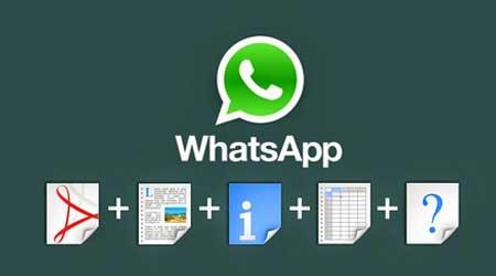 تحديث واتس آب: ميزة إرسال الملفات وحفظ المحادثات النصية