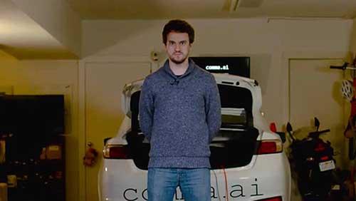 الشاب Geohot مطور الجيلبريك: يكشف عن سيارته ذاتية القيادة
