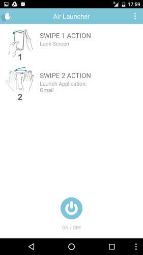 تطبيق Air Launcher لانشر ذكي بمزاي التحكم باليد
