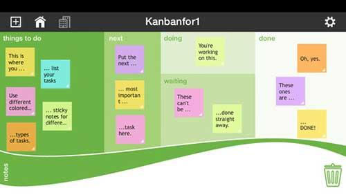 تطبيق Kanbanfor1 لإدارة المهام والمواعيد