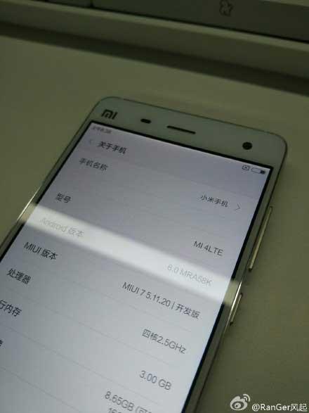 جهاز Xiaomi Mi 4 و Mi Note سيحصلان على الأندرويد 6.0 قريبا