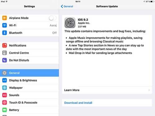 آبل تطلق رسميا التحديث الجديد iOS 9.2 – ما الجديد والمميزات ؟