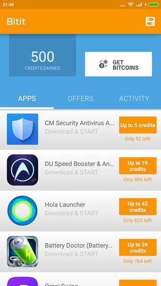 تطبيق Bitit لربح وجمع عملة بيتكوين عبر جهازك الأندرويد