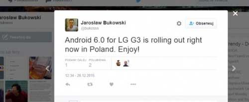 LG G3 يحصل على الاندرويد 6.0