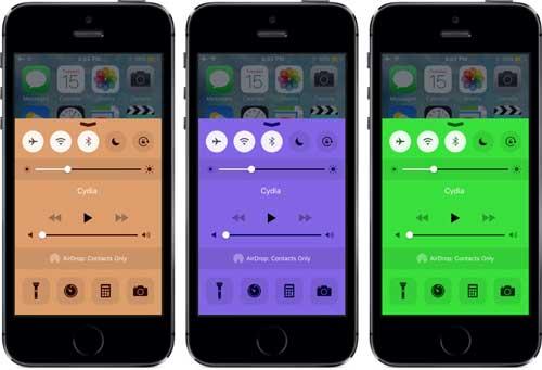 أداة CCColor لتغيير ألوان مركز التحكم
