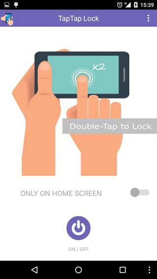تطبيق Tap 2 Lock لغلق شاشة القفل بمجرد الضغط