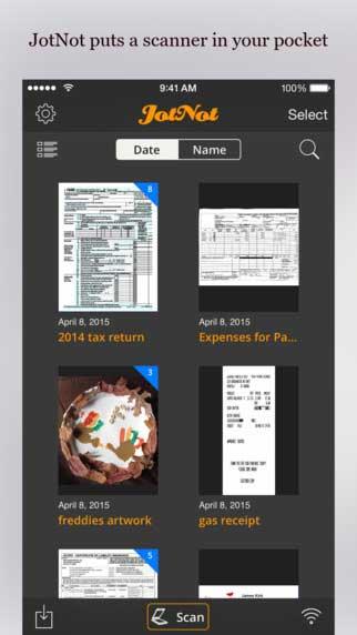تطبيق JotNot Scanner لتصوير المستندات