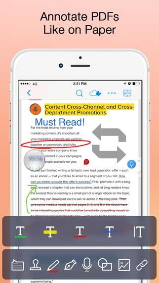 تطبيق PDF Markup Ultimate لإدارة المستندات