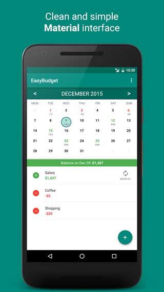 تطبيق EasyBudget لإدارة مصاريفك المالية