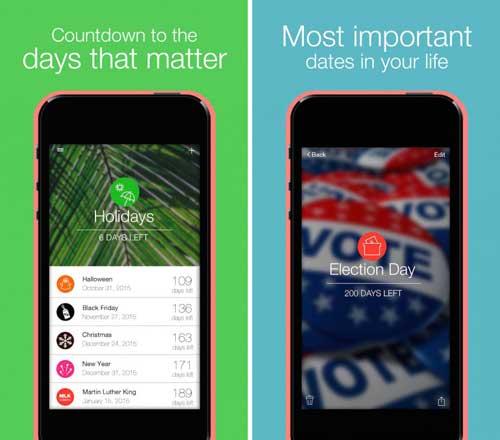 تطبيق Days Left لتسجيل كم تبقى على المناسبات المهمة