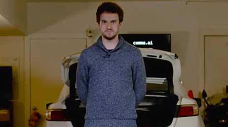 الشاب Geohot مطور الجيلبريك يكشف عن سيارته ذاتية القيادة - شاهدوا صور وفيديو