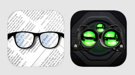 عرض خاص جديد في رزمة واحدة - تطبيق Night Vision للرؤية في الظلام و Pocket Glasses لتحويل الأيفون لنظارات مكبرة