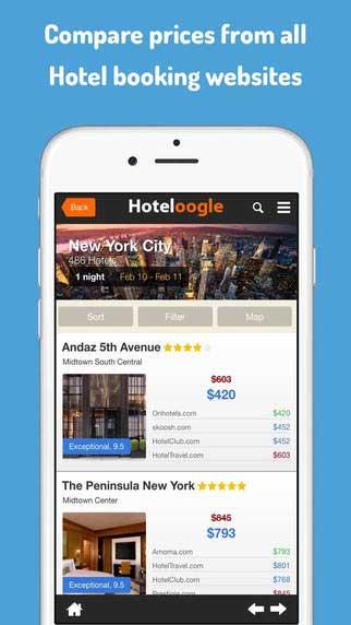 تطبيق Hoteloogle للحصول على أفضل عروض حجوزات الفنادق