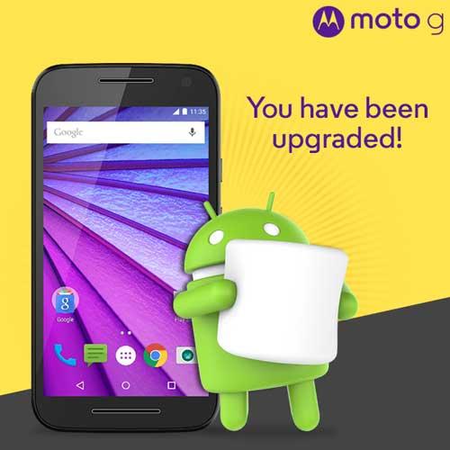 الجيل الثالث من Moto G يبدأ بالحصول على الأندرويد 6.0 في الهند