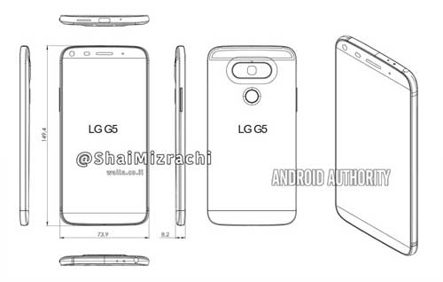 تسريب صور مخطط تصميم جهاز LG G5 - ما رأيكم فيه؟