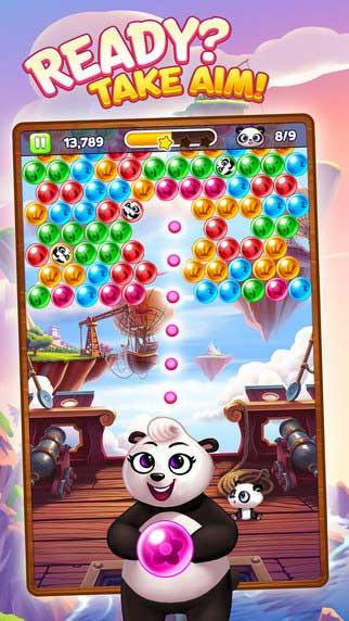 لعبة Panda Pop لتحدي كريات الألوان