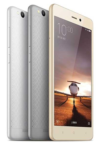 شيومي تعلن رسميا عن جهاز Redmi 3 ذو بطارية 4100 ميلي أمبير
