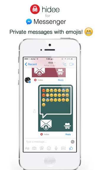 تطبيق hidee for Messenger - تطبيق المحادثات المخفية والمحمية