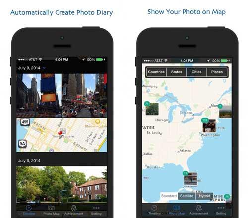 تطبيق Photo Footprint مستعرض صور بحسب الخريطة