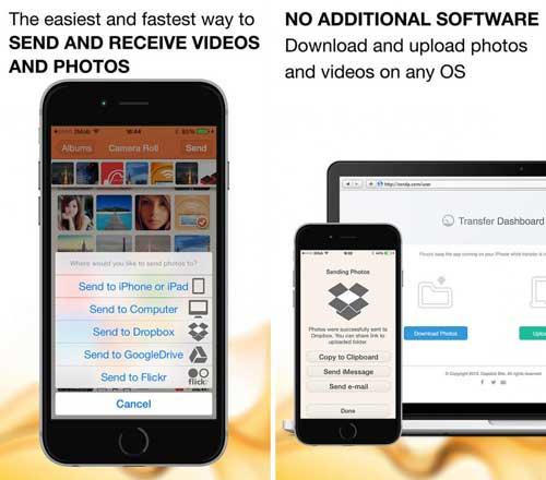 تطبيق لإرسال واستقبال الصور والفيديو عبر الواي فاي