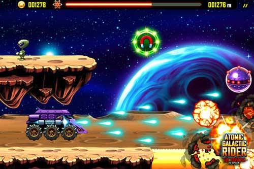 لعبة Atomic Galactic Rider حرب الفضاء الممتعة