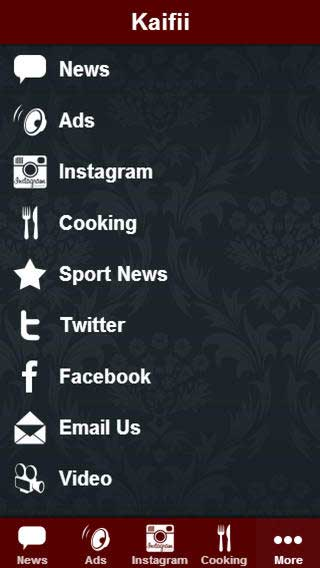 تطبيق Kaifii لعرض ما هو جديد ومنوع من ترفيه