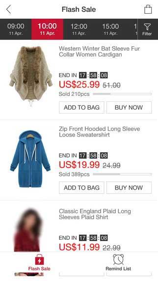 تطبيق JollyChic للتسوق وشراء ملابس النساء والأطفال