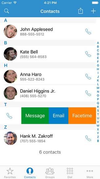 تطبيق ContactsXL 2016 لإدارة جهات الاتصال