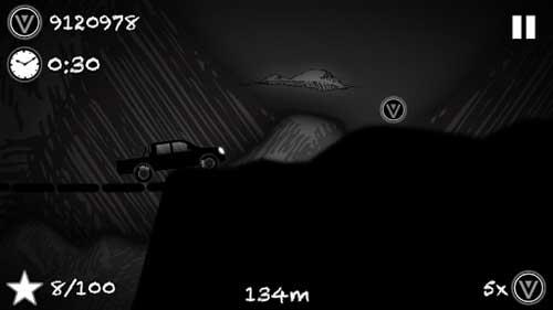 لعبة Hill Racing To Limbo قيادة السيارة في الظلام