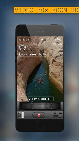 تطبيق 30x Zoom Digital لالتقاط صور وفيديو مكبر