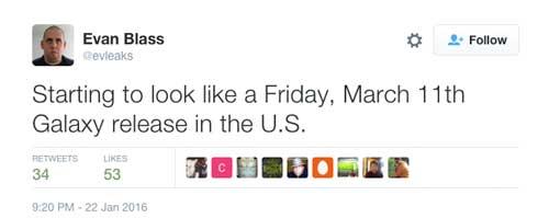 إطلاق جهاز Galaxy S7 يوم 11 مارس في أمريكا