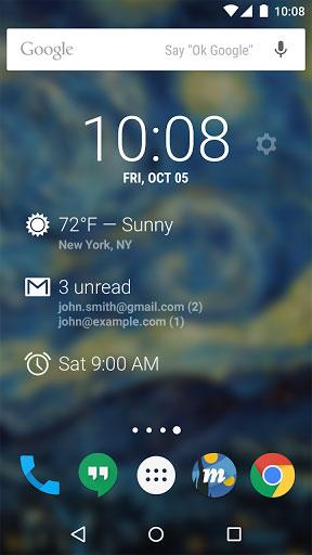 تطبيق DashClock Widget لعرض الساعة والطقس في شاشة القفل