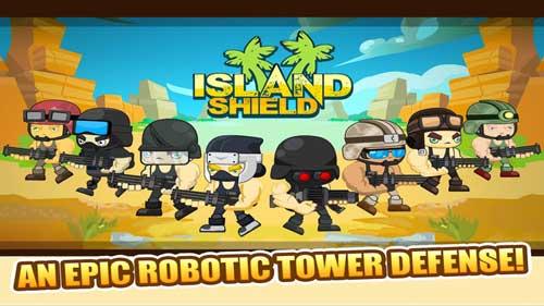 لعبة Island Shield : قم بالدفاع عن جزيرتك وحمايتها - للأيفون والأندرويد