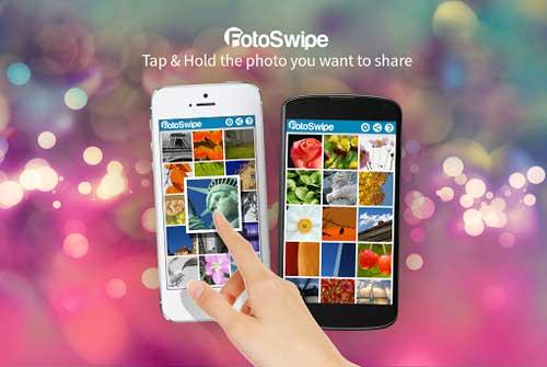 تطبيق FotoSwipe لنقل الصور بين الأندرويد والأيفون - مجانا